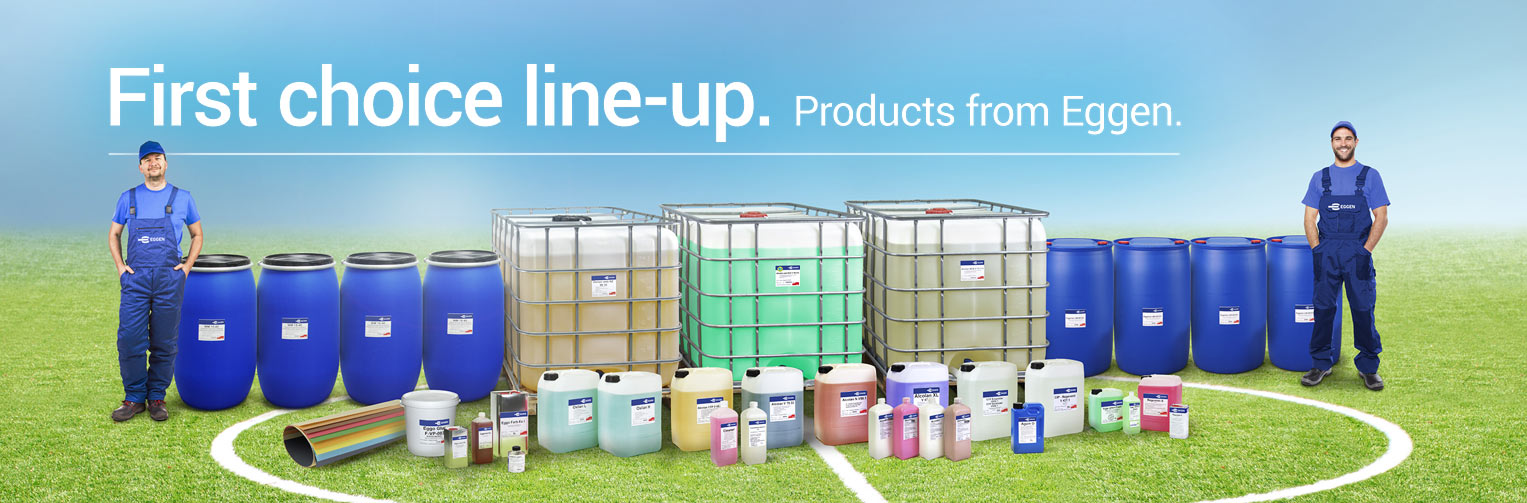 First choice line-up. Products from EGGEN.